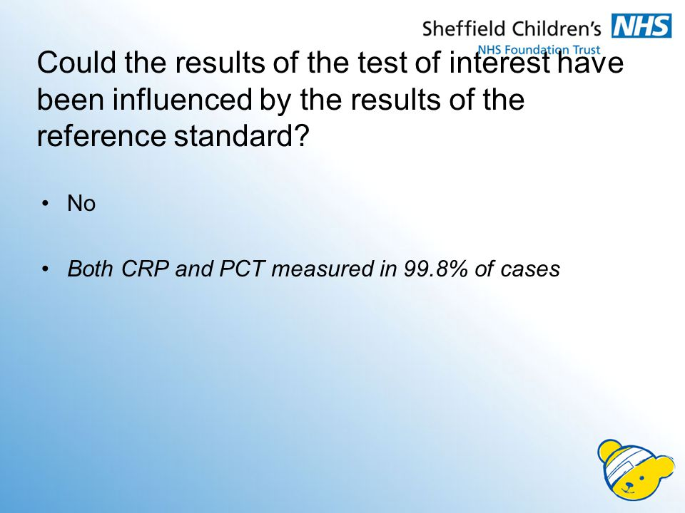 Could the results of the test of interest have been influenced by the results of the reference standard