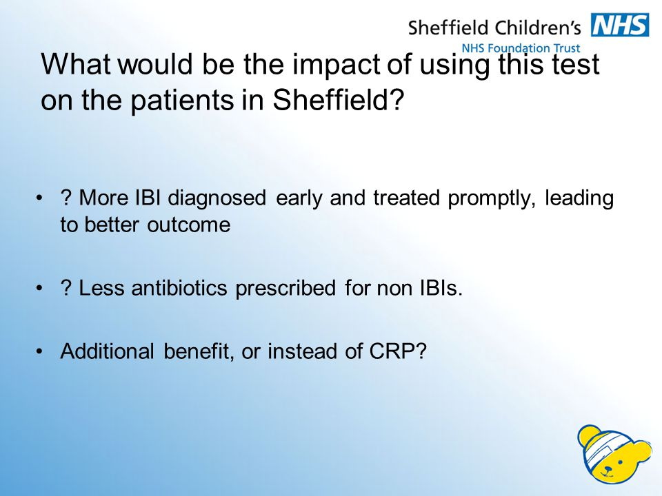 What would be the impact of using this test on the patients in Sheffield