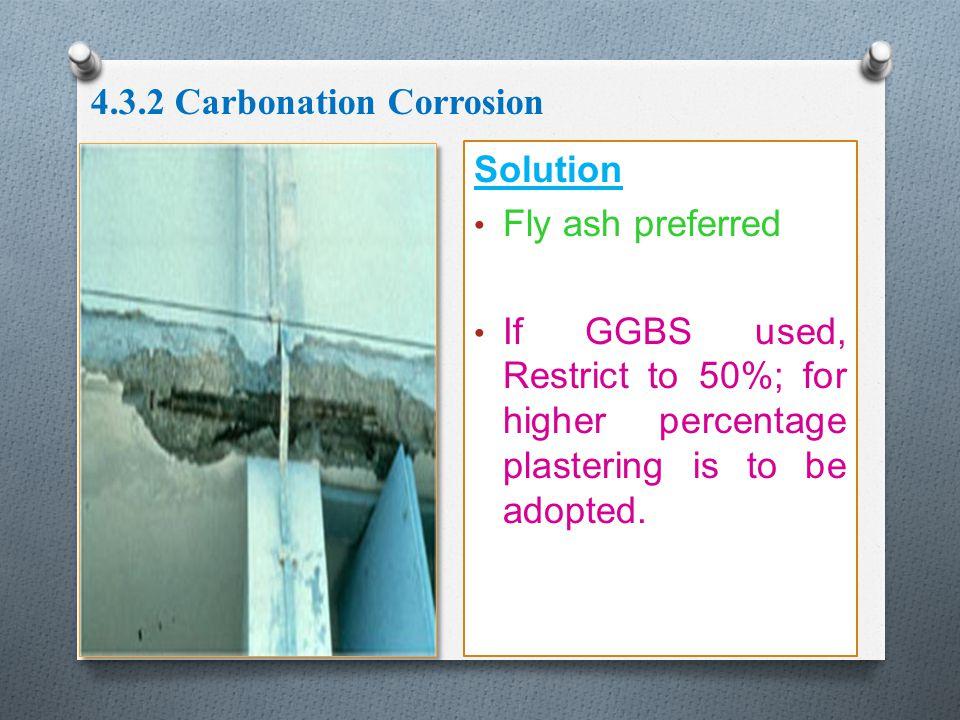 4.3.2 Carbonation Corrosion