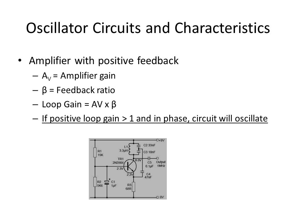 Oscillator Circuits and Characteristics