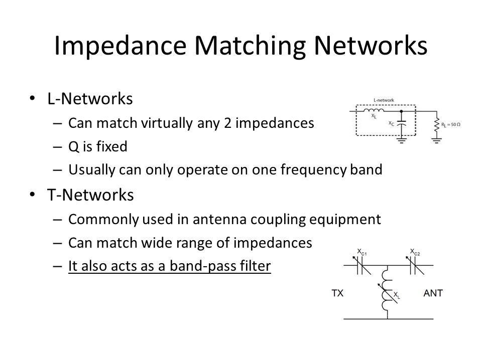 Impedance Matching Networks