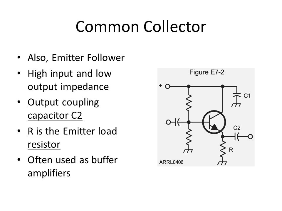Common Collector Also, Emitter Follower