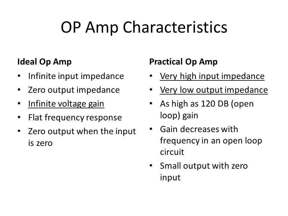 OP Amp Characteristics