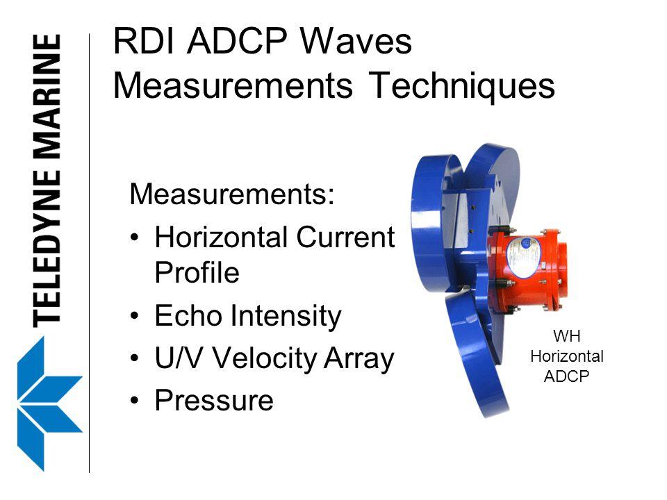 RDI ADCP Waves Measurements Techniques