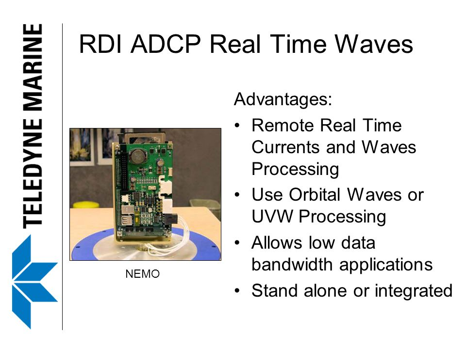 RDI ADCP Real Time Waves