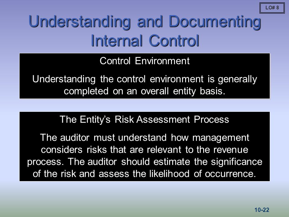 Understanding and Documenting Internal Control