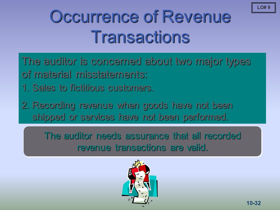 Occurrence of Revenue Transactions
