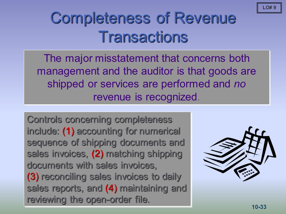 Completeness of Revenue Transactions