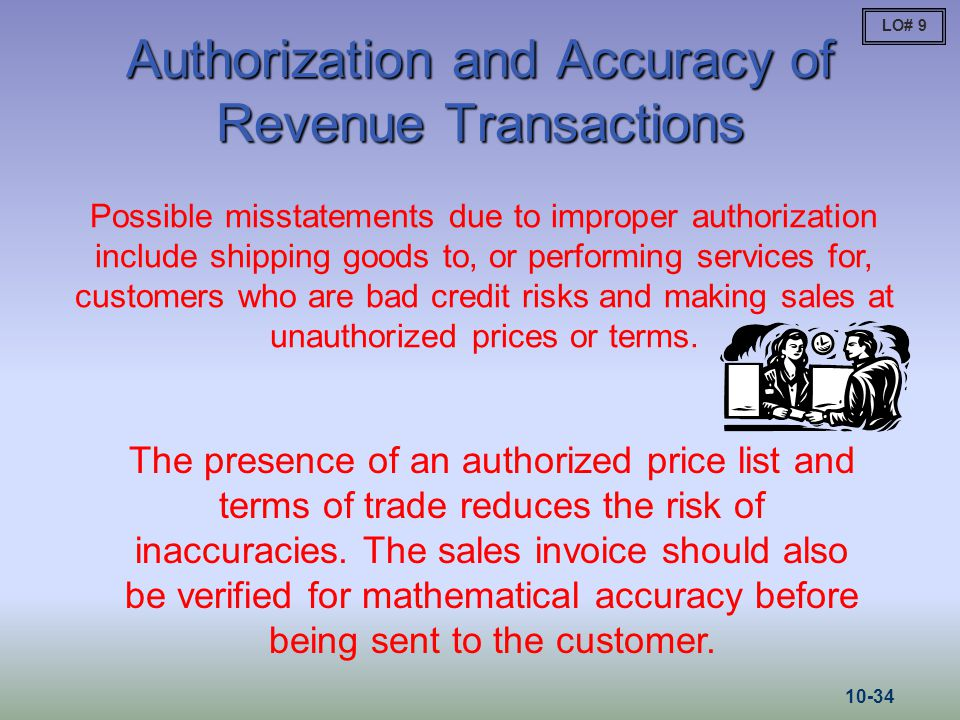 Authorization and Accuracy of Revenue Transactions