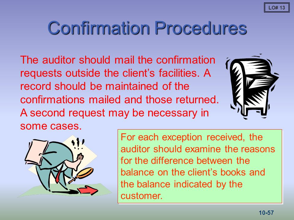 Confirmation Procedures