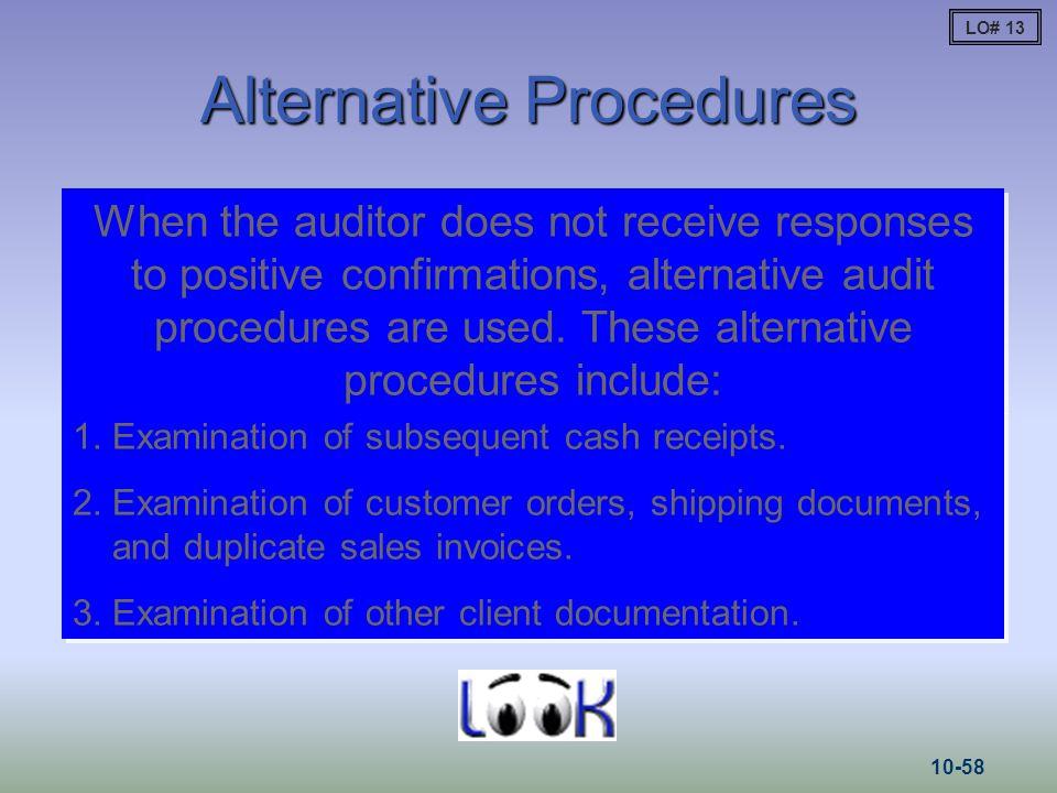 Alternative Procedures
