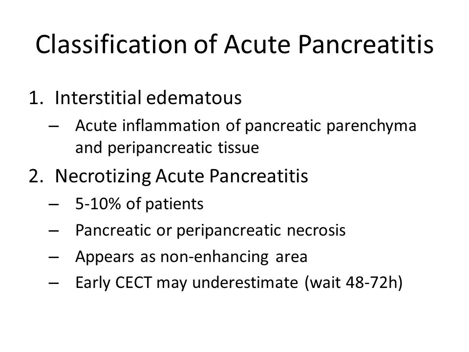 Classification of Acute Pancreatitis