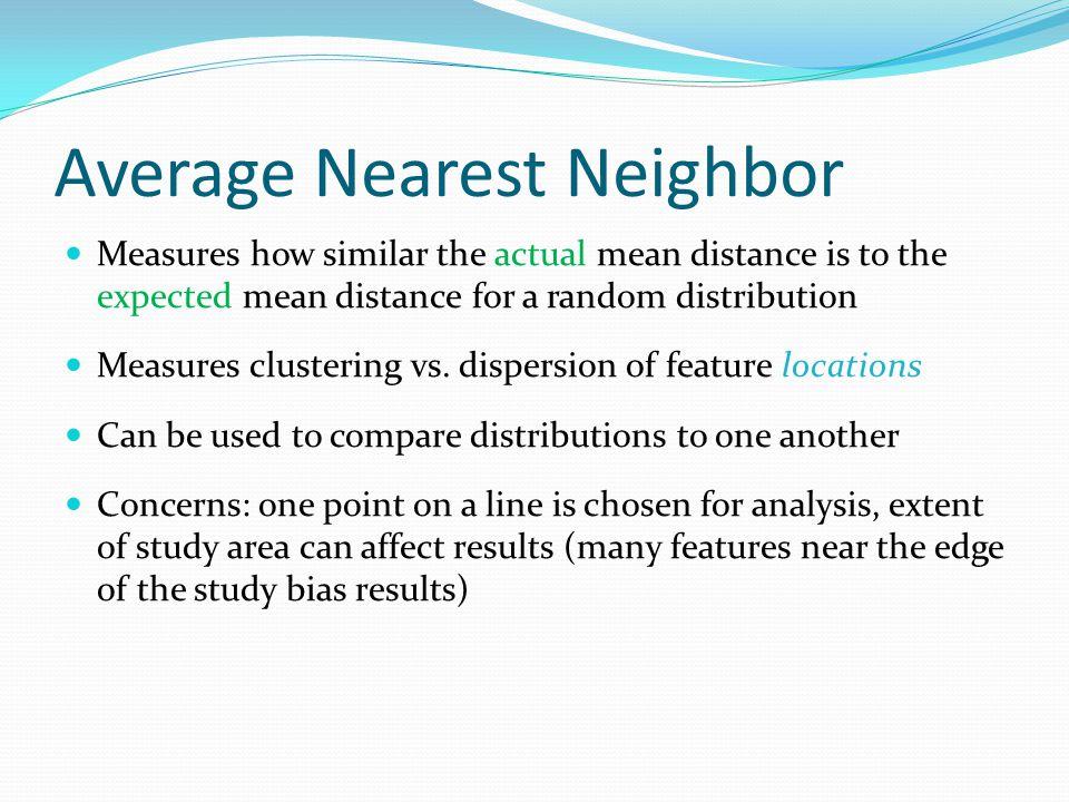 Average Nearest Neighbor