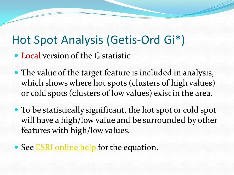 Hot Spot Analysis (Getis-Ord Gi*)