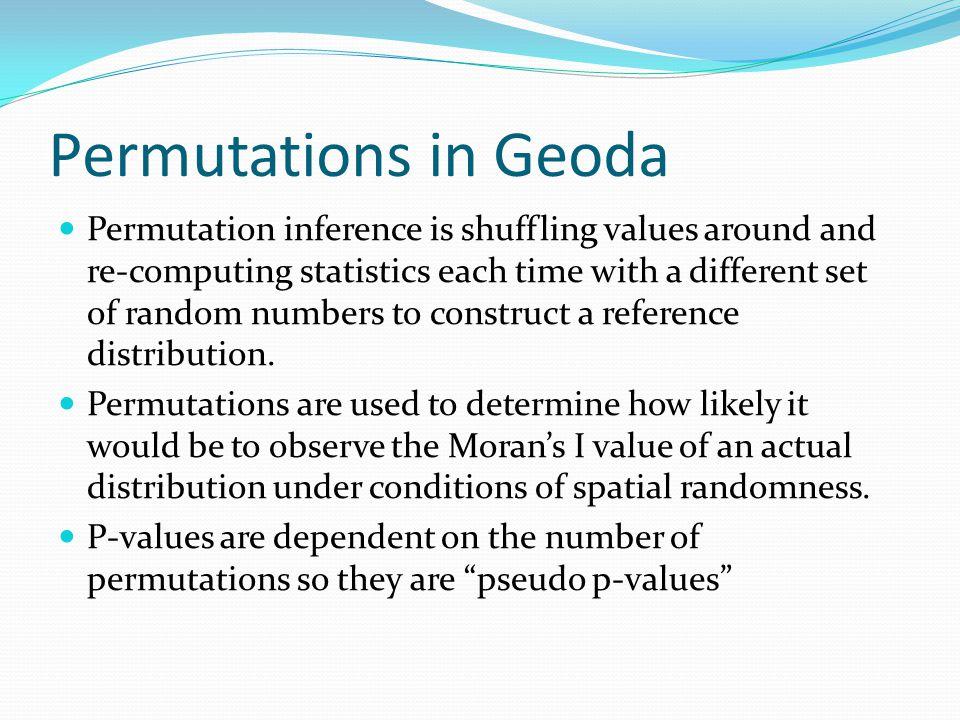 Permutations in Geoda