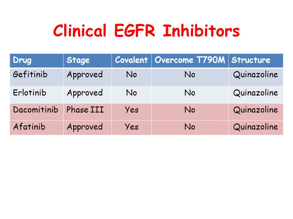 Clinical EGFR Inhibitors