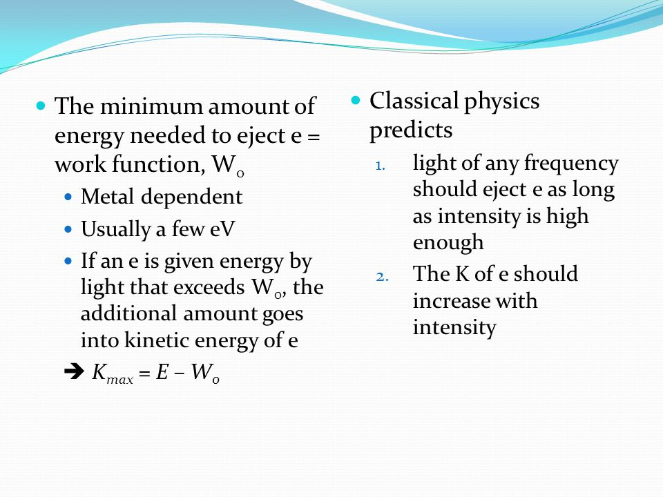 Classical physics predicts