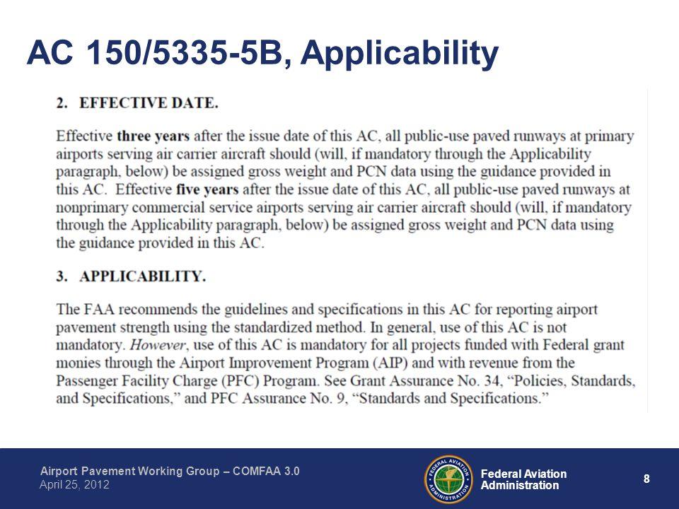 AC 150/5335-5B, Applicability