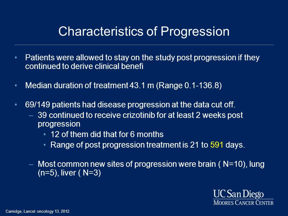 Characteristics of Progression