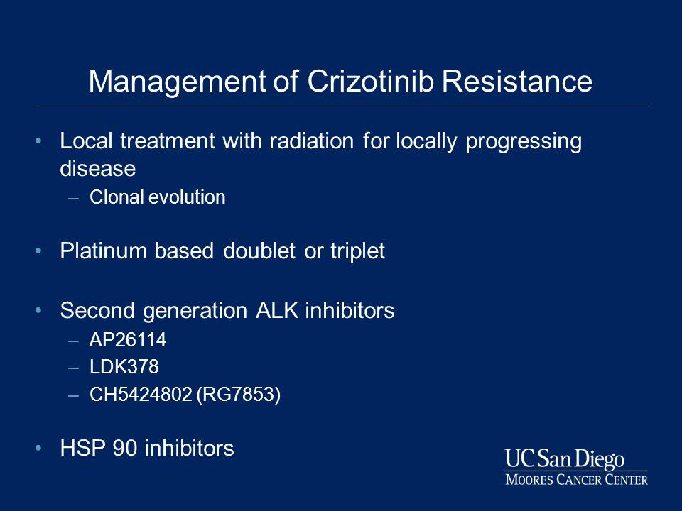 Management of Crizotinib Resistance