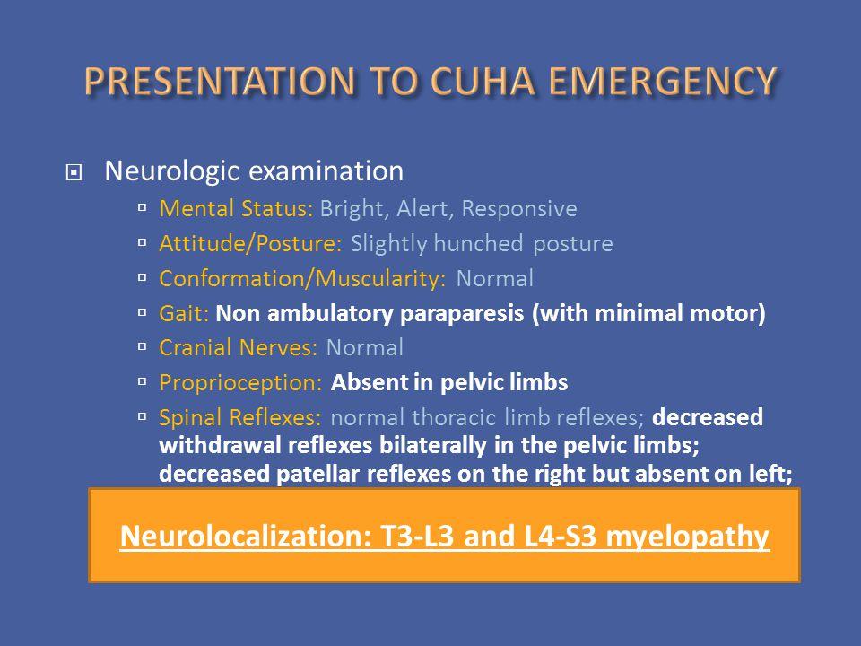 PRESENTATION TO CUHA EMERGENCY