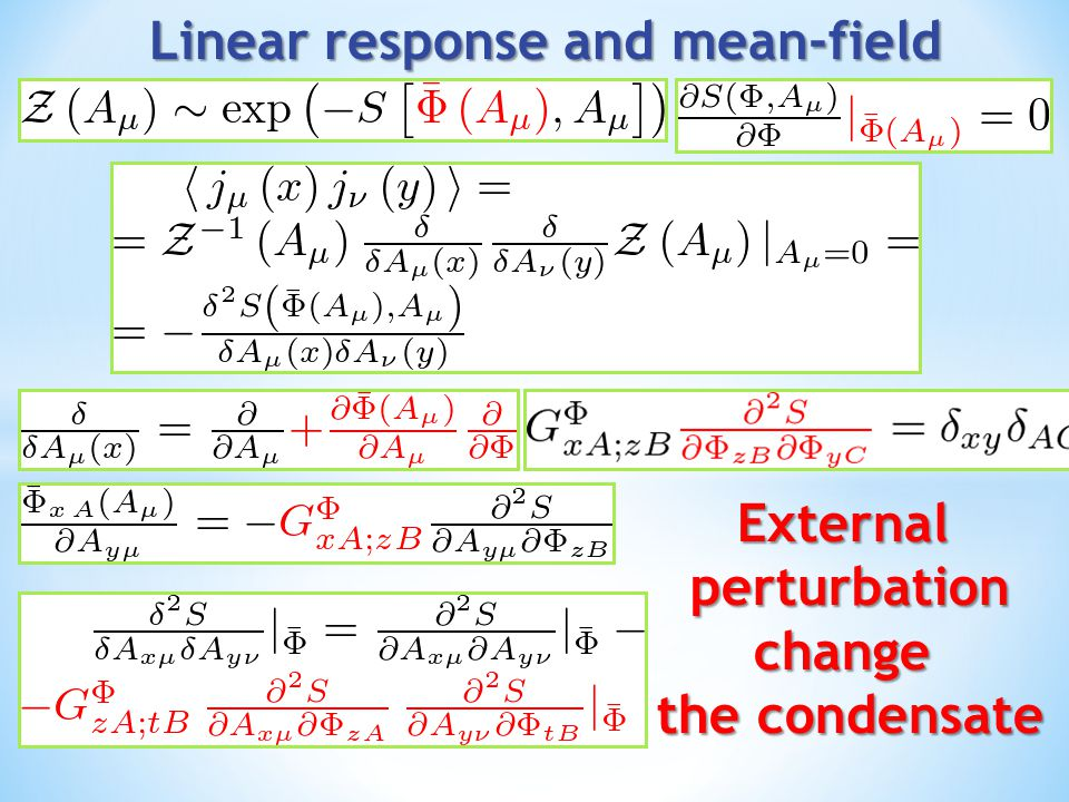 Linear response and mean-field