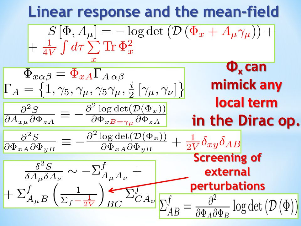 Linear response and the mean-field