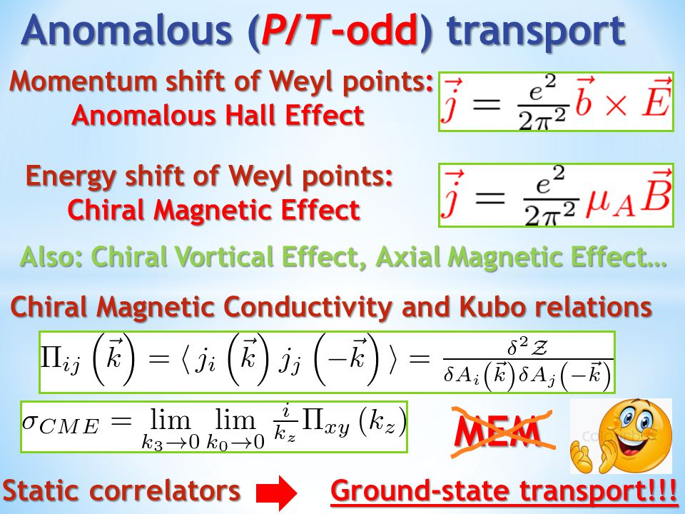 Anomalous (P/T-odd) transport