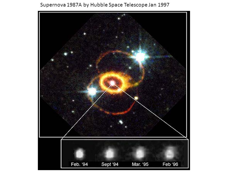 Supernova 1987A by Hubble Space Telescope Jan 1997