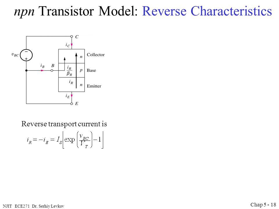 npn Transistor Model: Reverse Characteristics
