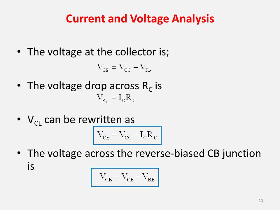 Current and Voltage Analysis