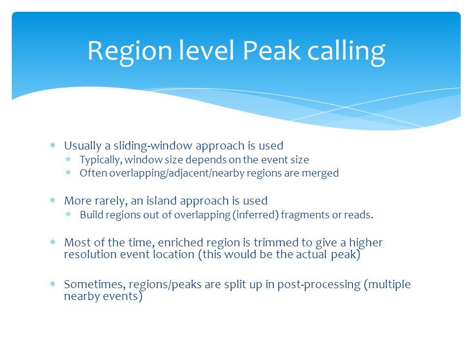 Region level Peak calling