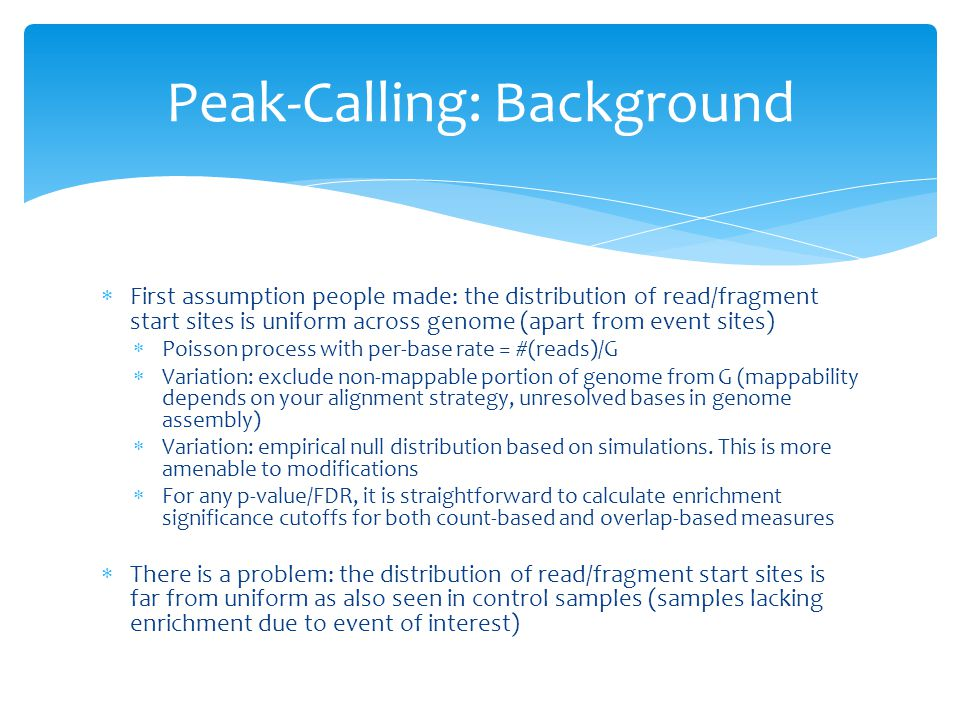 Peak-Calling: Background