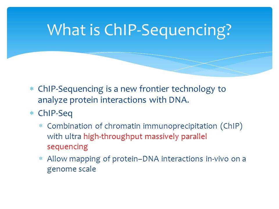 What is ChIP-Sequencing