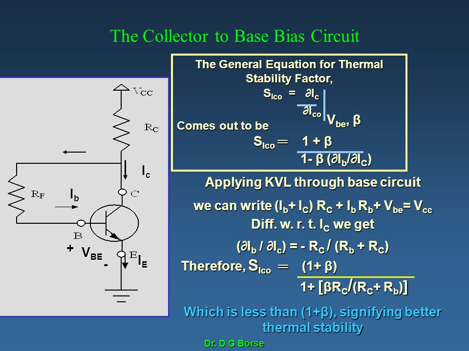 The Collector to Base Bias Circuit