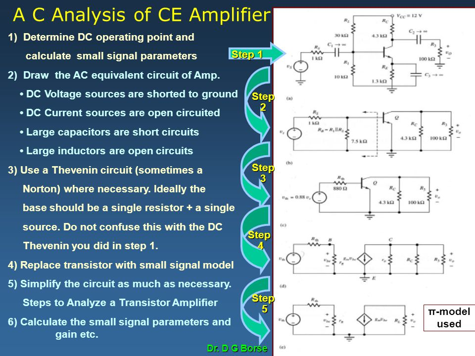 A C Analysis of CE Amplifier