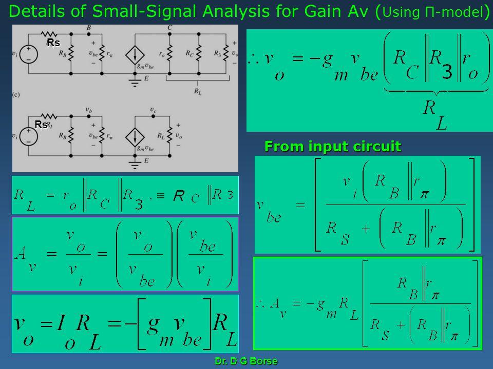 Details of Small-Signal Analysis for Gain Av (Using Π-model)
