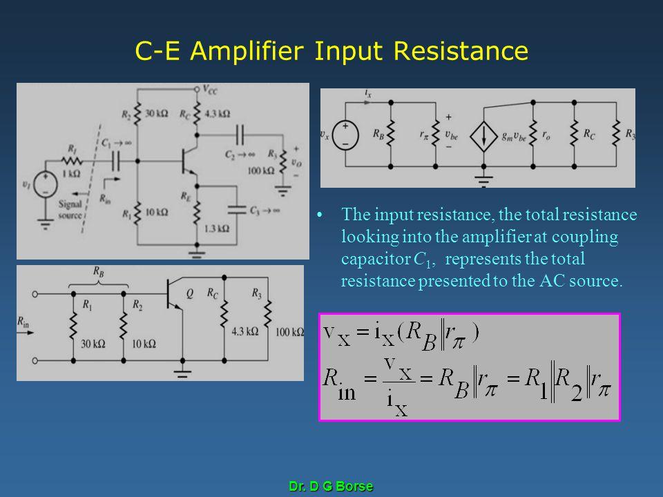C-E Amplifier Input Resistance