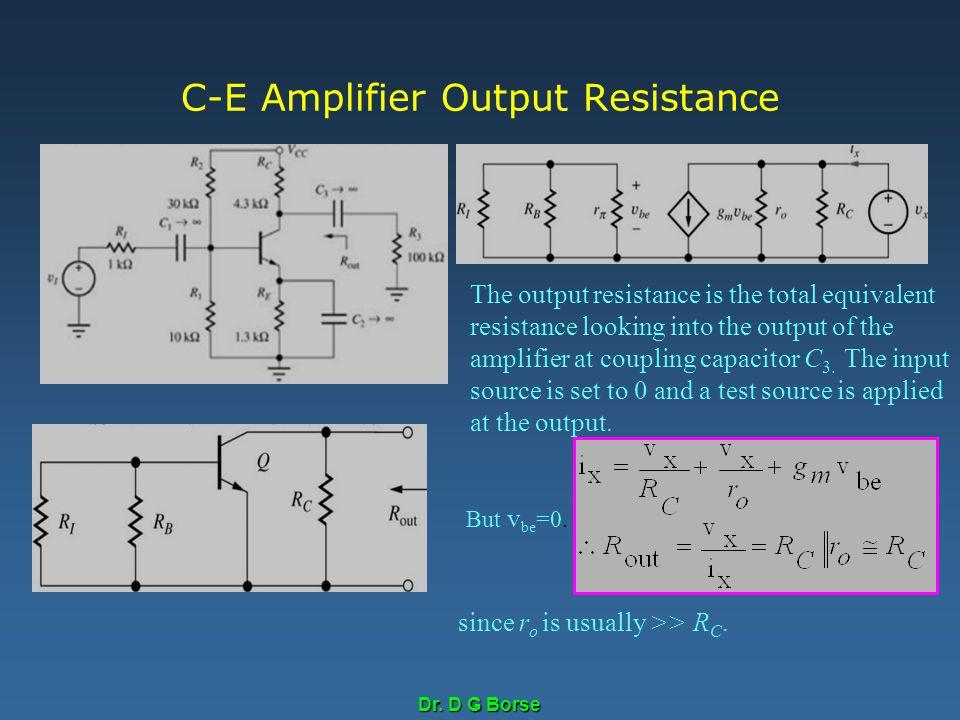 C-E Amplifier Output Resistance