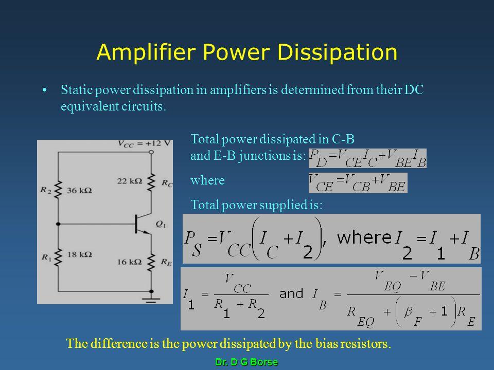 Amplifier Power Dissipation