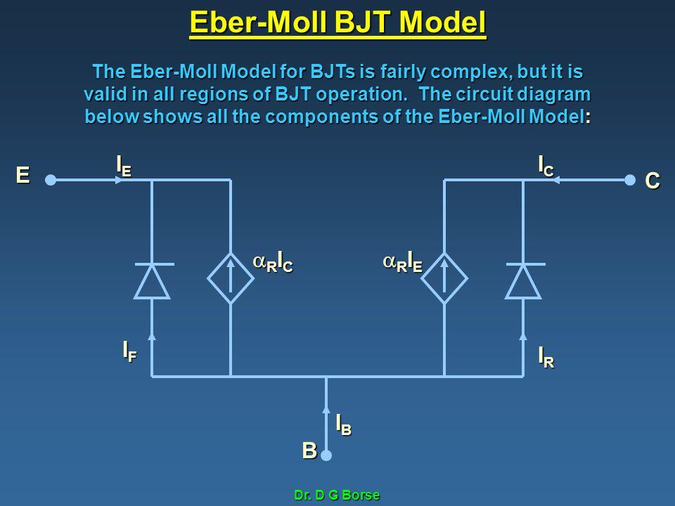 Eber-Moll BJT Model IE IC E C RIC RIE IF IR IB B