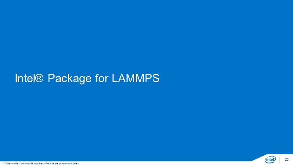 Intel® Package for LAMMPS