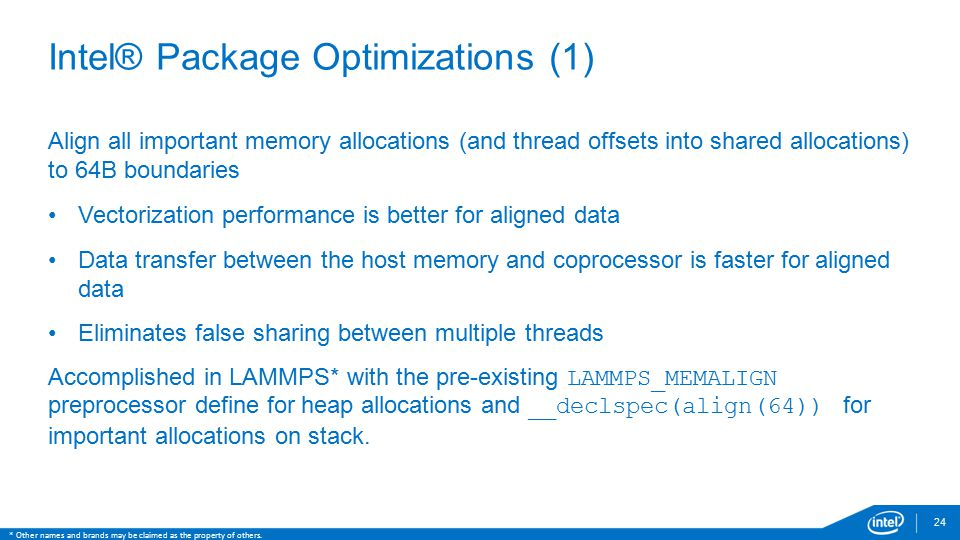 Intel® Package Optimizations (1)