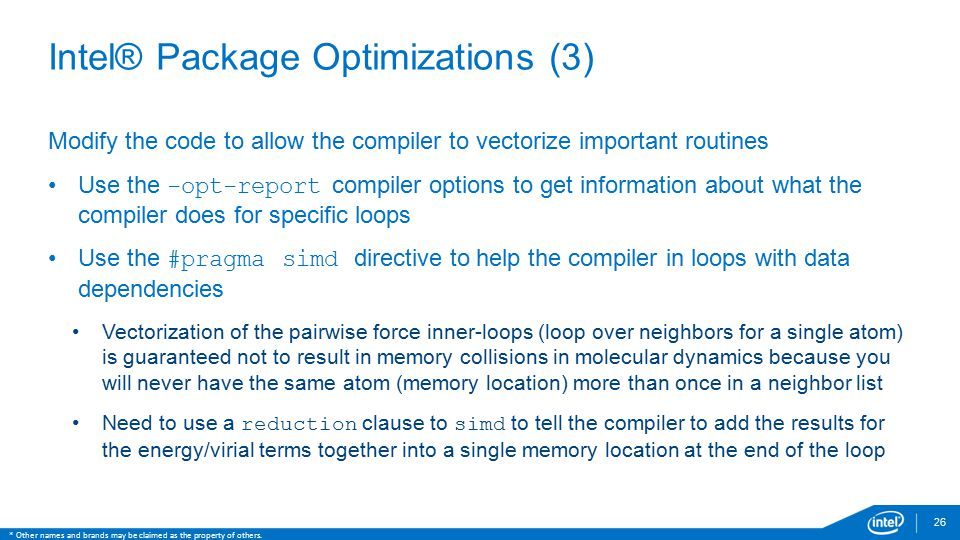 Intel® Package Optimizations (3)