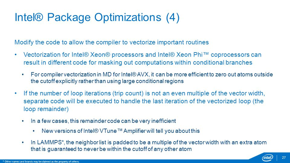 Intel® Package Optimizations (4)