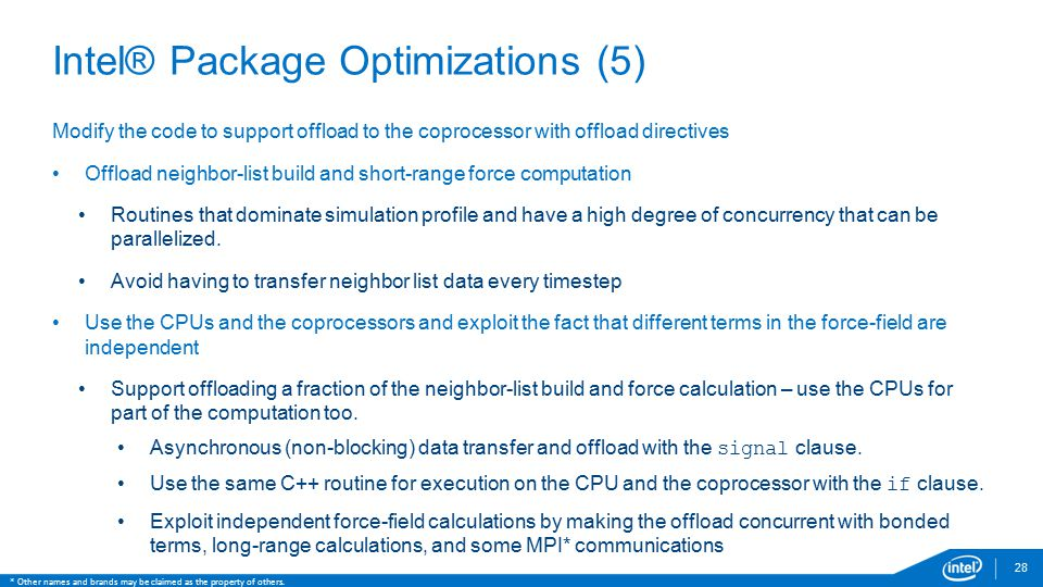 Intel® Package Optimizations (5)