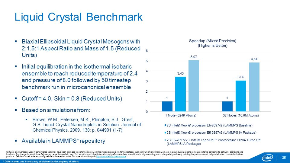 Liquid Crystal Benchmark
