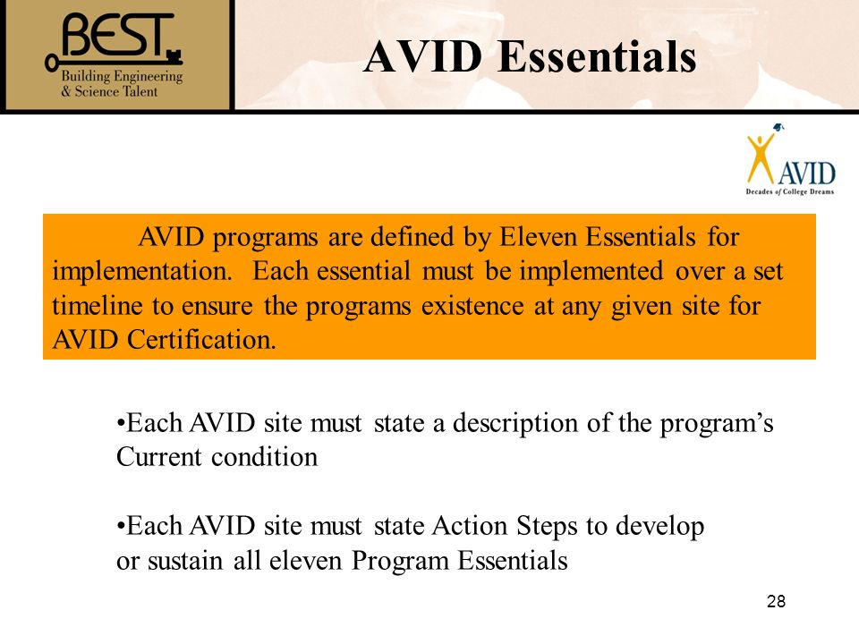 AVID Essentials