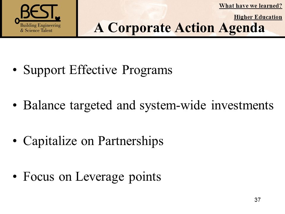 A Corporate Action Agenda