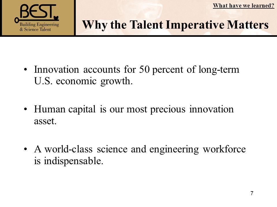 Why the Talent Imperative Matters